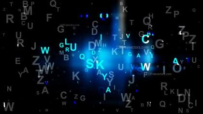 Cool Blue Alphabet Background