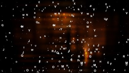 Cool Brown Scattered Letters Background Vector Image