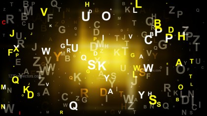 Cool Gold Scattered Letters Background