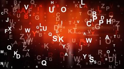 Abstract Cool Orange Scattered Alphabet Background Illustrator