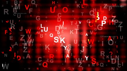 Cool Red Scattered Alphabet Letters Background