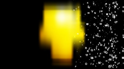 Cool Yellow Scattered Alphabet Background