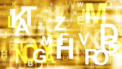 Abstract Gold Scattered Alphabet Letters Background Image