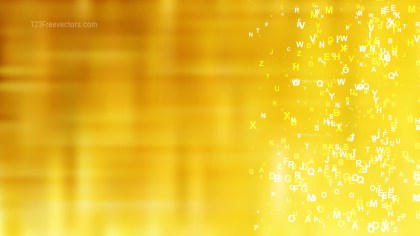 Gold Random Letters Background Graphic