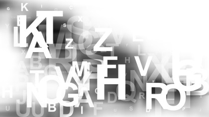 Grey and White Random Letters Background