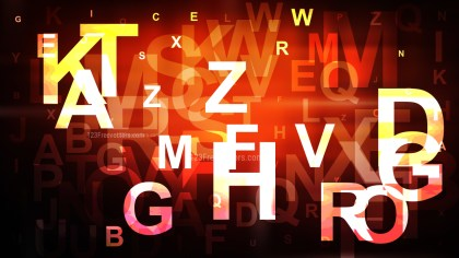 Abstract Orange and Black Alphabet Background