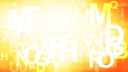 Orange and White Random Alphabet Letters Background
