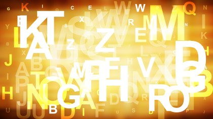 Abstract Orange and White Random Letters Background