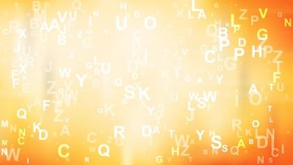 Orange and White Scattered Alphabet Background