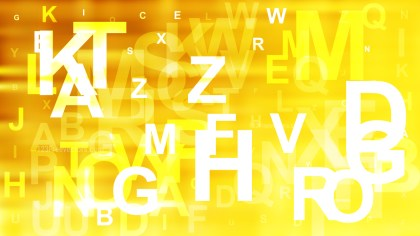 Orange Yellow and White Letters Background