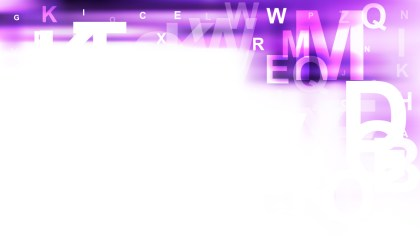 Purple and White Scattered Alphabet Letters Background