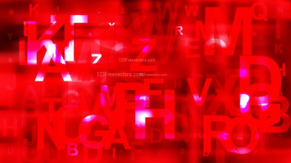 Abstract Red Scattered Alphabet Background Graphic