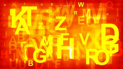 Red and Yellow Random Alphabet Letters Background Vector
