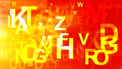 Red and Yellow Random Alphabet Letters Background