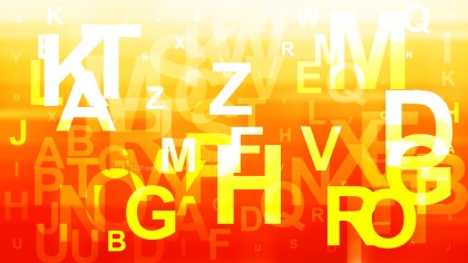 Red White and Yellow Scattered Alphabet Background