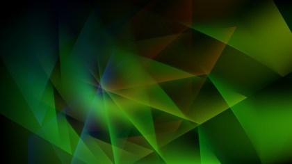 Green and Black Fractal Background