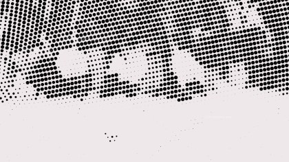 Black and White Dotted Background Vector Graphic