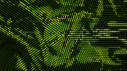 Green and Black Halftone Pattern Background Vector Graphic