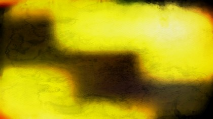Black and Yellow Watercolor Background