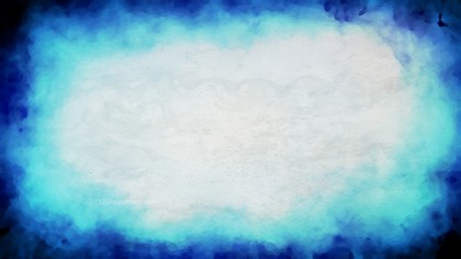 Blue and White Grunge Watercolour Texture Background