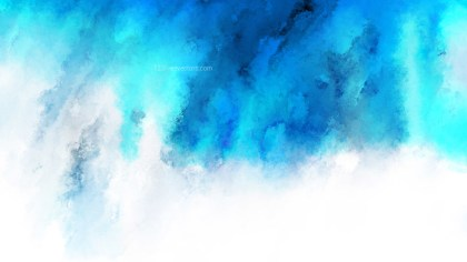 Blue and White Grunge Watercolour Texture Image
