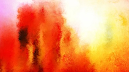 Orange and White Grunge Watercolor Texture Background