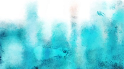 Turquoise and White Watercolor Background
