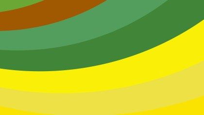 Green and Yellow Curved Stripes Background Vector Image