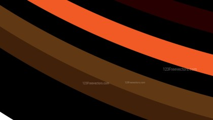 Orange and Brown Curved Stripes Background Vector Art