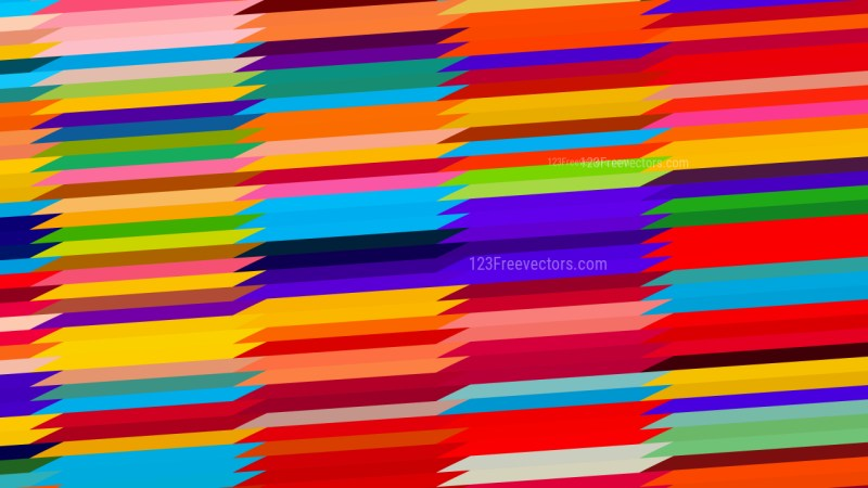 Abstract Colorful Horizontal Lines and Stripes Background