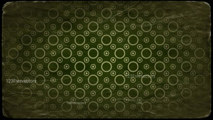 Beige Green and Black Grunge Circle Pattern Texture Background