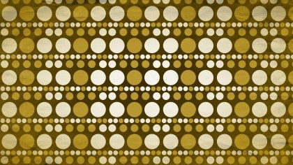 Brown and Gold Seamless Circle Pattern Background Image