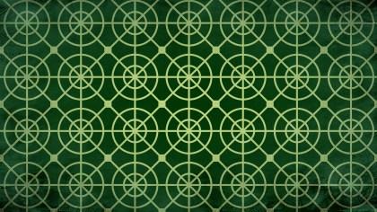 Dark Green Circle Pattern Background Image