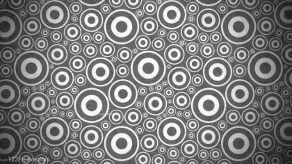 Dark Grey Geometric Circle Pattern Background Image