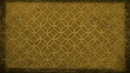 Dark Yellow Grunge Seamless Circle Background Pattern