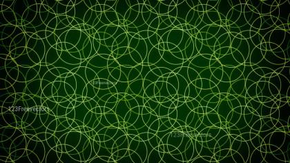 Green and Black Seamless Geometric Circle Background Pattern Image