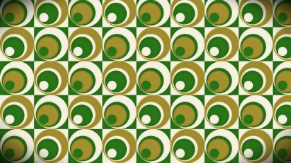 Green and Gold Geometric Circle Background Pattern Image