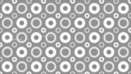 Grey and White Seamless Circle Background Pattern Image