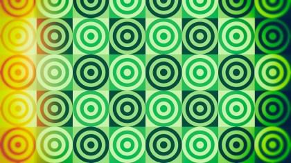 Orange and Green Circle Background Pattern Image