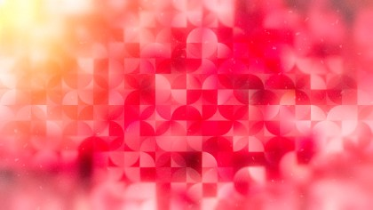 Abstract Pink and Orange Quarter Circles Background