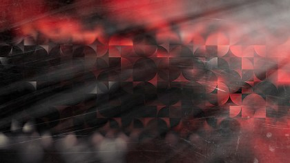 Abstract Red and Black Quarter Circles Background Image