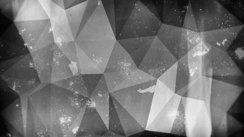 Black and Grey Distressed Polygon Background