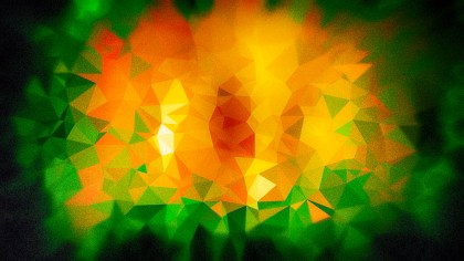 Green Orange and Black Grunge Polygon Pattern Background Graphic
