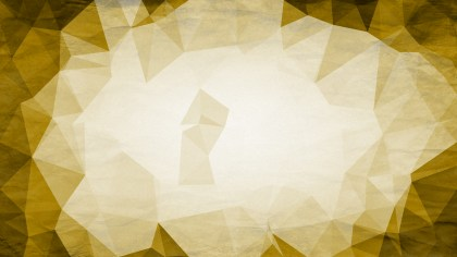 White and Gold Grunge Polygon Triangle Background Image