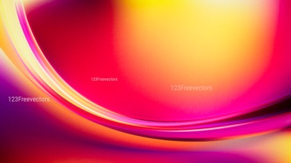 Abstract Pink Red and Yellow Wave Background Design