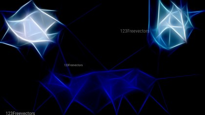 Abstract Black and Blue Fractal Background Illustration