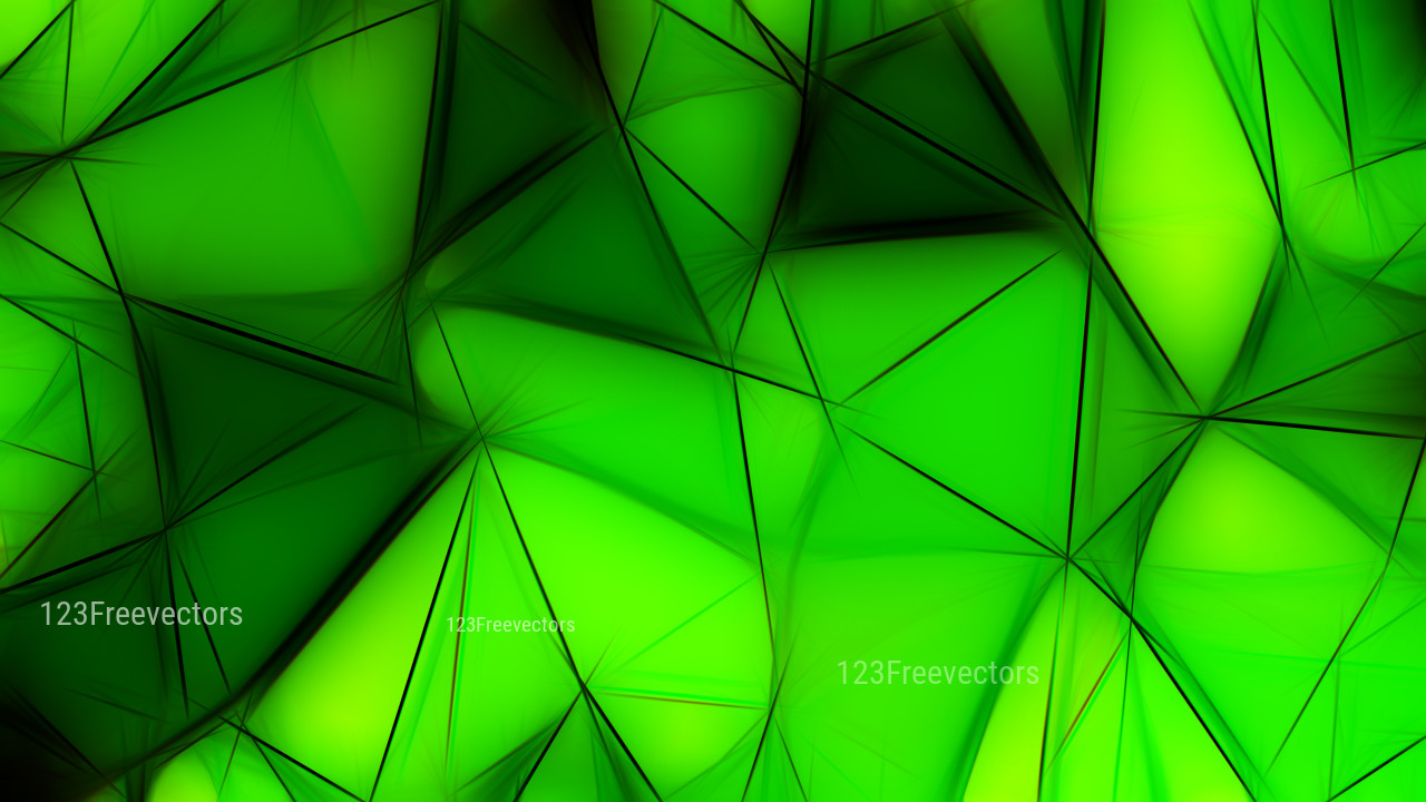 Abstract Cool Green Fractal Wallpaper Image