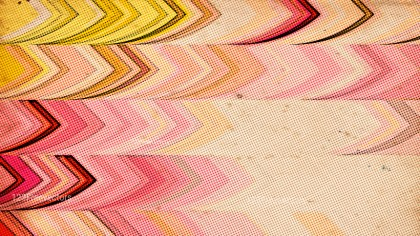 Pink Yellow and Beige Distressed Halftone Texture Graphic