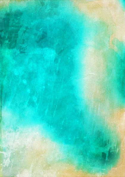 Beige and Turquoise Watercolor Texture Background Image