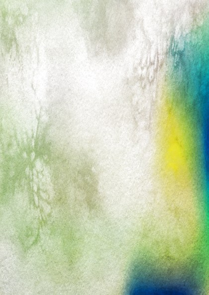 Blue Green and Yellow Watercolor Texture Image